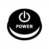 電源ボタンの白黒シルエットイラスト02