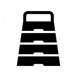 跳び箱の白黒シルエットイラスト