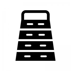 跳び箱の白黒シルエットイラスト02