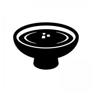 盃の白黒シルエットイラスト