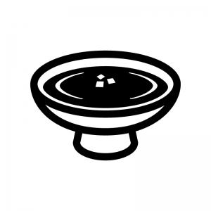 盃の白黒シルエットイラスト02