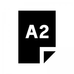 A2の用紙・書類の白黒シルエットイラスト02