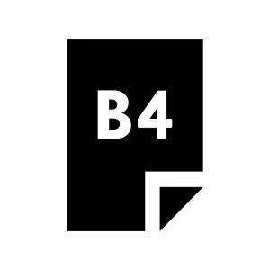 B4の用紙・書類の白黒シルエットイラスト02