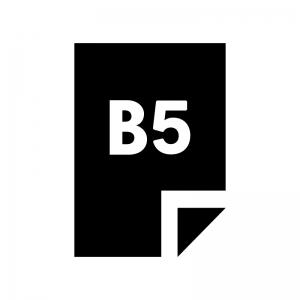 B5の用紙・書類の白黒シルエットイラスト02