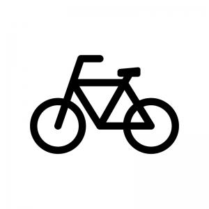 自転車の白黒シルエットイラスト02