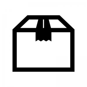 段ボールの白黒シルエットイラスト03