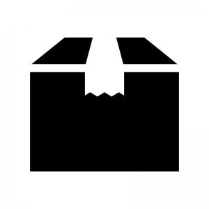 段ボールの白黒シルエットイラスト04