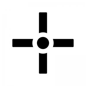 十字(クロス)カーソルのシルエットイラスト02