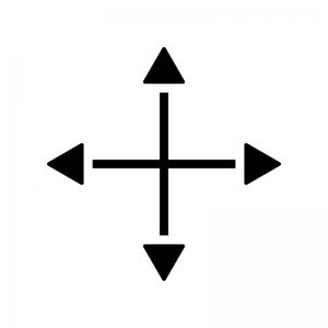 十字(クロス)カーソルのシルエットイラスト03