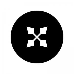 ダブルシャープの白黒シルエットイラスト02