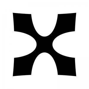 ダブルシャープの白黒シルエットイラスト03