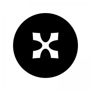 ダブルシャープの白黒シルエットイラスト04
