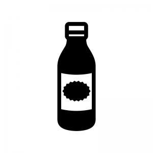 栄養ドリンクの白黒シルエットイラスト