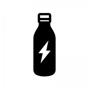 栄養ドリンクの白黒シルエットイラスト02
