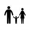 ファミリー・家族の白黒シルエットイラスト02