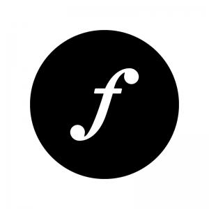 フォルテ記号の白黒シルエットイラスト02