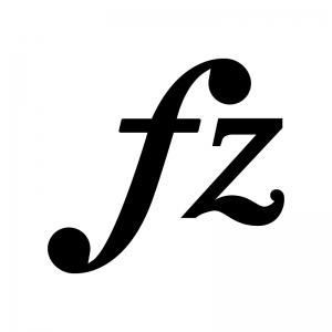 フォルツァンドの白黒シルエットイラスト