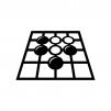 囲碁の白黒シルエットイラスト02