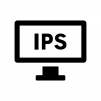IPS液晶モニタの白黒シルエットイラスト