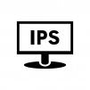IPS液晶モニタの白黒シルエットイラスト02