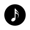 16分音符の白黒シルエットイラスト02