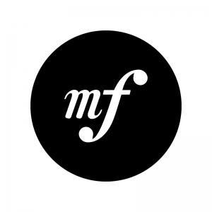 メゾフォルテの白黒シルエットイラスト02