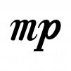 メゾピアノの白黒シルエットイラスト