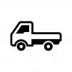 軽トラックの白黒シルエットイラスト02