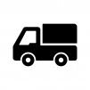 軽トラックの白黒シルエットイラスト03
