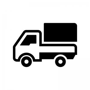 軽トラックの白黒シルエットイラスト04