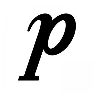 ピアノ記号の白黒シルエットイラスト