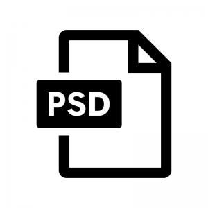 PSDファイルの白黒シルエットイラスト