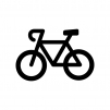 ロードバイクの白黒シルエットイラスト