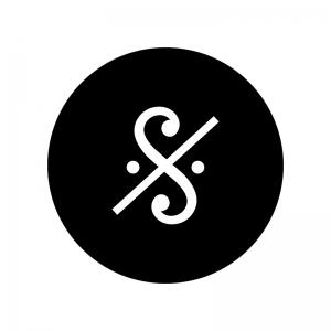 セーニョ記号の白黒シルエットイラスト02