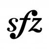 スフォルツァンドの白黒シルエットイラスト