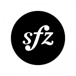 スフォルツァンドの白黒シルエットイラスト02