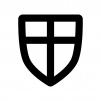 盾・シールドの白黒シルエットイラスト04