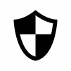 盾・シールドの白黒シルエットイラスト05
