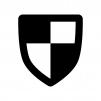 盾・シールドの白黒シルエットイラスト06