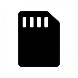 SIMカードの白黒シルエットイラスト05