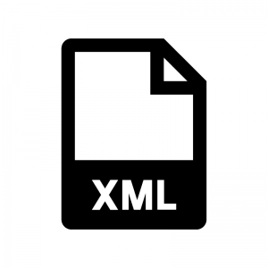XMLファイルの白黒シルエットイラスト02