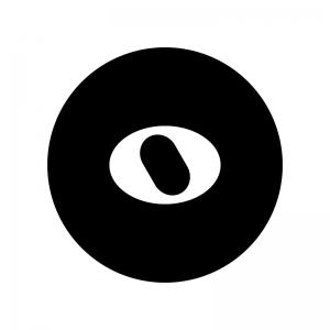 全音符の白黒シルエットイラスト02