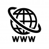 インターネットの白黒シルエットイラスト02