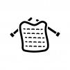 編み物の白黒シルエットイラスト