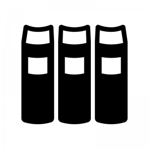 辞典・厚い本の白黒シルエットイラスト