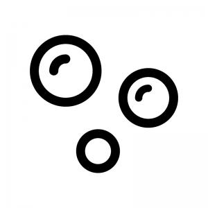 泡の白黒シルエットイラスト
