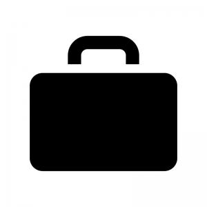 カバン・バッグの白黒シルエットイラスト
