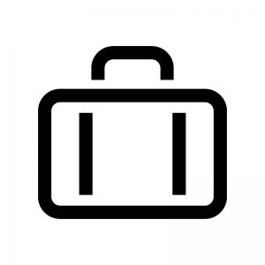 カバン・バッグの白黒シルエットイラスト03