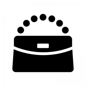 クラッチバッグの白黒シルエットイラスト
