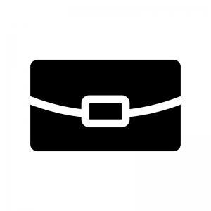 クラッチバッグの白黒シルエットイラスト02